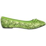 Limette STAR-16G glitter flache ballerinas damen schuhe