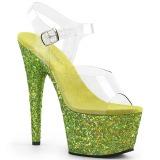 Limette glitter 18 cm Pleaser ADORE-708LG pole dance high heels schuhe