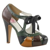 Multicolored 11,5 cm retro vintage BETTIE-19 Womens Shoes with High Heels