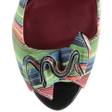 Multicolored 13 cm LOLITA-12 womens peep toe pumps shoes
