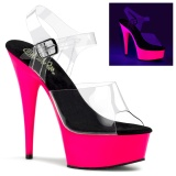 Neon 15 cm Pleaser DELIGHT-608UV pole dance high heels schuhe