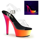 Neon 15 cm Pleaser RAINBOW-208UV pole dance high heels schuhe