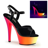Neon 15 cm Pleaser RAINBOW-209UV pole dance high heels schuhe