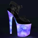 Neon 20 cm FLAMINGO-808REFL pole dance high heels schuhe