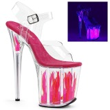 Neon 20 cm Pleaser FLAMINGO-808FLM pole dance high heels schuhe