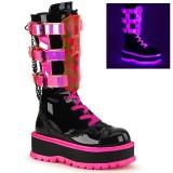 Neon 5 cm SLACKER-156-2 cyberpunk platform boots