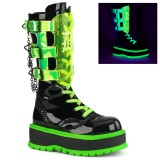 Neon 5 cm SLACKER-156 cyberpunk platform boots