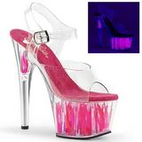 Neon Pink 18 cm Pleaser ADORE-708FLM Plateau High Heel