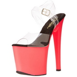 Neon Pink 18 cm Pleaser TABOO-708UV Plateau High Heel