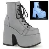 Neon Vegan 13 cm CAMEL-203 demonia ankle boots platform