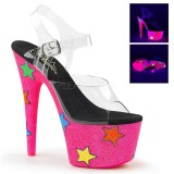 Neon glitter 18 cm Pleaser ADORE-708STR pole dance high heels schuhe