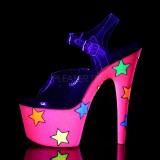 Neon glitter 18 cm Pleaser ADORE-708STR pole dance high heels schuhe