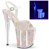 Neon glitter 20 cm FLAMINGO-810UVG pole dance high heels schuhe