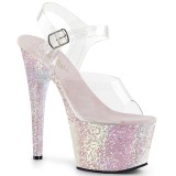 Opal glitter 18 cm Pleaser ADORE-708LG pole dance high heels schuhe