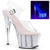 Opal glitter 18 cm Pleaser ADORE-708UVG pole dance high heels schuhe