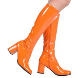 Orange Lack 8,5 cm Funtasma GOGO-300 Damen Stiefel