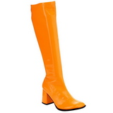 Orange Neon 7,5 cm FUNTASMA GOGO-300UV Damen Stiefel