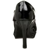 Patent 10 cm CONTESSA-50X mens pumps for wide feets