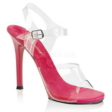 Pink 11,5 cm FABULICIOUS GALA-08 Abend Sandaletten mit Absatz
