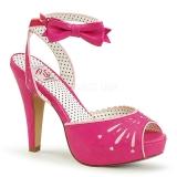 Pink 11,5 cm Pinup BETTIE-01 Sandaletten mit high heels