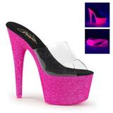 Pink 18 cm ADORE-701UVG neon plateau pantoletten damen