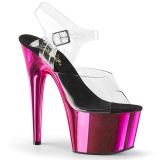 Pink 18 cm ADORE-708 Chrome Plateau High Heels