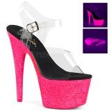 Pink 18 cm ADORE-708UVG Sandaletten mit Neon Plateau