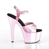 Pink 18 cm ADORE-709HGCH Hologramm plateau high heels