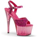 Pink 18 cm ADORE-710GT glitter platform high heels shoes