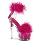 Pink 18 cm ADORE-724F exotic pole sandaletten mit federn