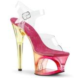 Pink 18 cm MOON-708MCT Acryl plateau high heels