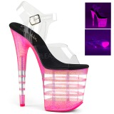Pink 20 cm FLAMINGO-808UVLN Sandaletten mit Neon Plateau