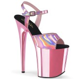 Pink 20 cm FLAMINGO-809HG pleaser high heels mit plateau