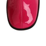 Pink 7,5 cm GOGO-300 lackstiefel mit blockabsatz - disco stiefel 70er jahre