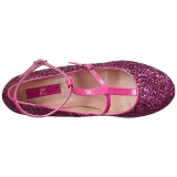 Pink Glitter 10 cm QUEEN-01 big size pumps shoes