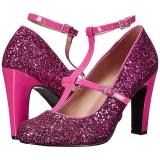 Pink Glitter 10 cm QUEEN-01 grosse grössen pumps schuhe