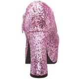 Pink Glitter 11 cm MARYJANE-50G Plateau Pumps Mary Jane