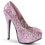 Pink Glitter 14,5 cm BORDELLO TEEZE-06G Plateau Pumps