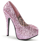 Pink Glitter 14,5 cm Burlesque BORDELLO TEEZE-06G Plateau Pumps