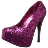 Pink Glitter 14,5 cm Burlesque TEEZE-06GW herren pumps für breite füsse