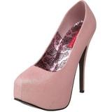 Pink Glitter 14,5 cm TEEZE-31G Platform Pumps Schuhe