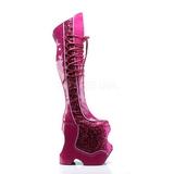 Pink Glitter 22 cm FABULOUS-3035 Overknee Stiefel für Drag Queen