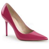 Pink Lack 10 cm CLASSIQUE-20 spitze pumps mit stiletto absatz