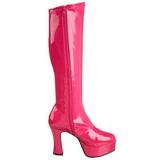 Pink Lack 11 cm Funtasma EXOTICA-2000 Plateau Stiefel Damen