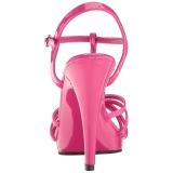 Pink Lack 12 cm FLAIR-420 High Heel Sandaletten Damen