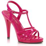 Pink Lack 12 cm FLAIR-420 High Heels Damenschuhe für Herren