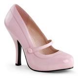 Pink Lack 12 cm retro vintage CUTIEPIE-02 mary jane pumps mit verstecktem plateau