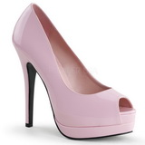 Pink Lack 13,5 cm BELLA-12 Damen Pumps Stiletto Absatz