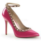 Pink Lack 13 cm AMUSE-28 Klassische Pumps Schuhe Damen