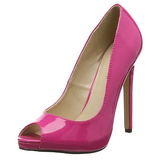 Pink Lack 13 cm SEXY-42 Klassische Pumps Schuhe Damen